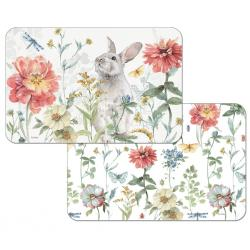 """Cala Home Podkładki na stół dwustronne C174-00054 """"Spring Meadow Bunny"""""""