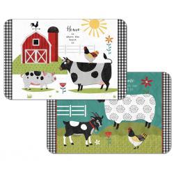 "Cala Home Podkładki na stół dwustronne C174-00052 ""farm charm"""