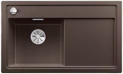BLANCO ZENAR 45 S Silgranit PuraDur kawowy lewa komora z korkiem InFino i korkiem automatycznym