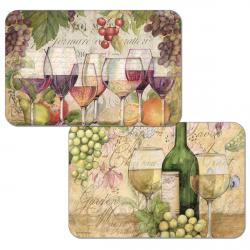 """Cala Home Podkładki na stół dwustronne C49616 """"Wine Country"""""""