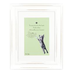 "Ashdene Obrazek w ramce 30004 ""psotne kotki zielony"""
