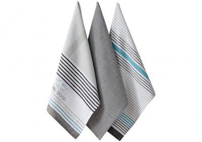 Ladelle Eat Well komplet trzech ręczników kuchennych L33045