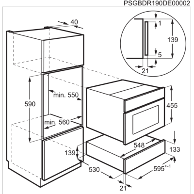 Electrolux KBD4X szuflada do podgrzewania seria 900