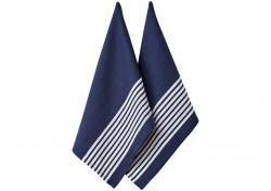 Ladelle Butcher Stripe S II komplet 2 ręczników kuchennych z bawełny 45/70cm - Navy L32957