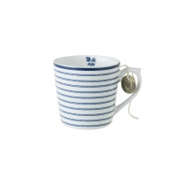 Laura Ashley kubek porcelanowy W178246 Candy Stripe 0,22 l.