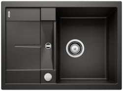 BLANCO METRA 45 S Compact Silgranit PuraDur Czarny odwracalny, korek auto.