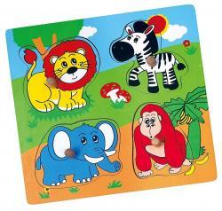 Viga 59563 Puzzle niespodzianka - zoo