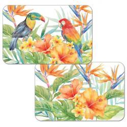 "Cala Home Podkładki na stół dwustronne C49541 ""tropical birds"""