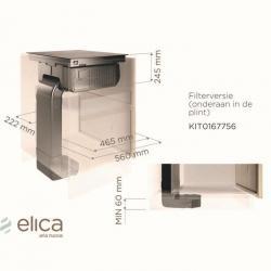 ELICA Zestaw do montażu jako pochłaniacz - wylot w szafce  Nikolatesla FIT KIT0167756