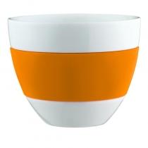 Kubek do latte biało-pomarańczowy Aroma KZ-3560521