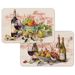 """Cala Home Podkładki na stół dwustronne C174-00051 """"wine tableau"""""""