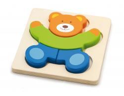 Viga 50169 Pierwsze puzzle maluszka - miś