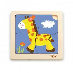 Viga 51319 Puzzle na podkładce - Żyrafa