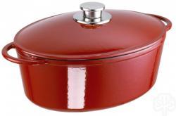 SCHULTE-UFER Brytfanna Rustika czerwona żeliwo 34cm 7,1 l -Towar w magazynie - dostawa GRATIS