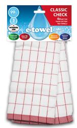 E-cloth ściereczka do szkła CC E20169 czerwona