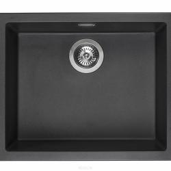 Zestaw REGINOX - zlewozmywak Amsterdam 50 black silvery + bateria Spring Stainless Steel