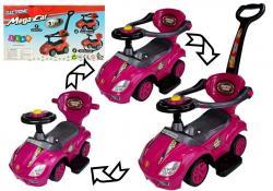 Jeździk z Pchaczem Mega Car 3w1 Różowy