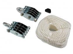 Uniwersalny system bloczkowy z liną do 300 kg