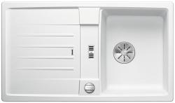 BLANCO LEXA 45 S Silgranit PuraDur Biały odwracalny, korek auto., InFino