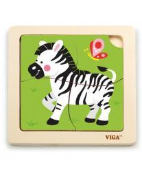 Viga 51317 Puzzle na podkładce-zebra