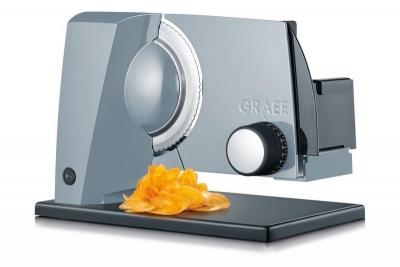 GRAEF SKS 11000 Szara Krajalnica elektryczna, kuchenna, uniwersalna, 45 W