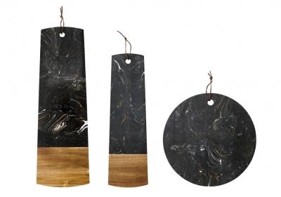 Ladelle Metta podstawka na stół czarna - kamień - okrągła 30 cm L61144 - towar na magazynie!!!