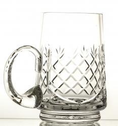 Kufel do piwa kryształowy z wolnym polem pod grawer (05896)