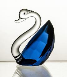 Łabędź kryształowy kolor kobaltowy (11148)
