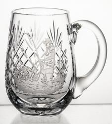 Kufel kryształowy do piwa z grawer wędkarz (13837))