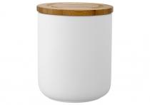 Ladelle Stak Soft Matt Biały pojemnik do przechowywania żywności 13 cm L61081
