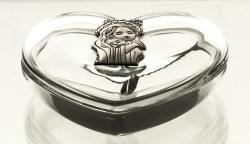 Bomboniera kryształowa serce Matka Boska (10178)